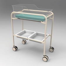 AX582_1_Bassinet-Trolley-Single-Acrylic-Tub-Powder-Coated
