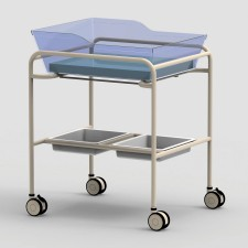 AX597_1_Bassinet-Trolley-Twin-Acrylic-Tub-Powder-Coated-Frame