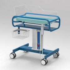 AX609_1_Bassinet-Trolley-Single-Adjustable-Height-Acrylic-Tub-Powder-Coated-Frame