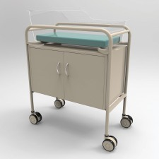 AX612_1_Bassinet-Trolley-Acrylic-Tub-Powder-Coated-Frame-with-Cabinet