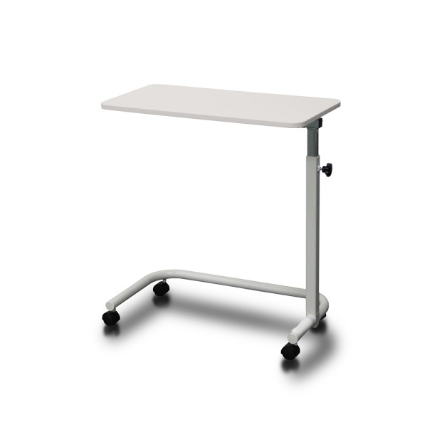 Overbed Table Manual Height Adjustment Ash White AXBT110-AW