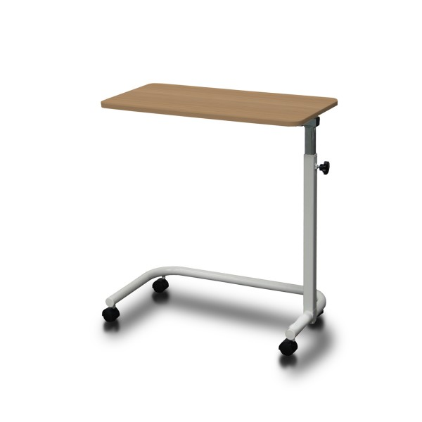 Overbed Table Manual Height Adjustment Young Beech AXBT110-YB