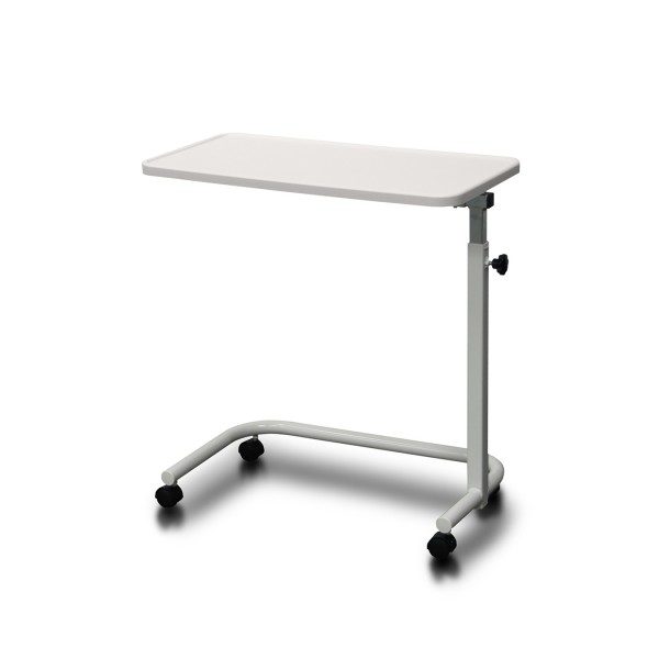 Overbed Table Manual Height Adjustment Lip Surround Ash White AXBT112TH-AW