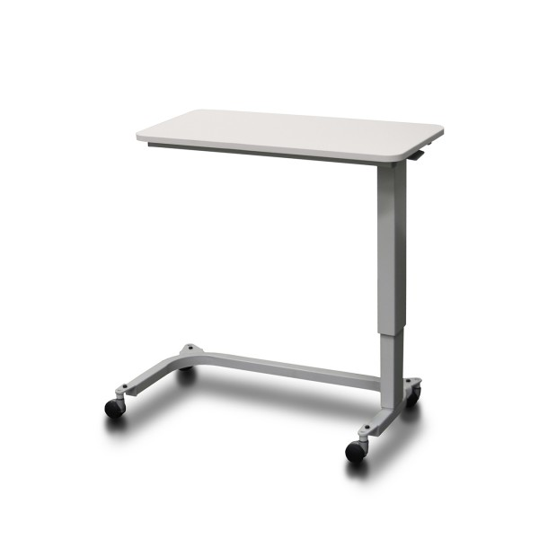 Overbed Table Assisted Lift Height Ash White AXKT110-AW